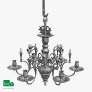 chandelier antique 02 3d model