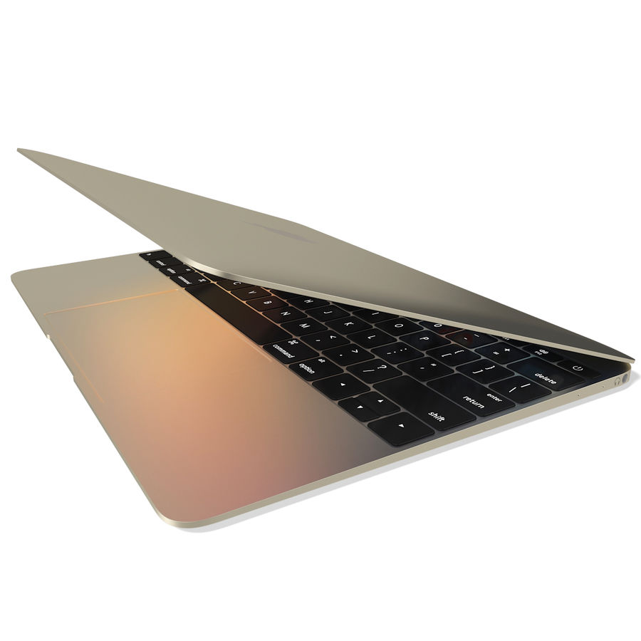 Apple MacBook 2015 Gold royalty-free 3d model - Preview no. 7