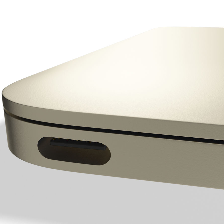Apple MacBook 2015 goud royalty-free 3d model - Preview no. 13