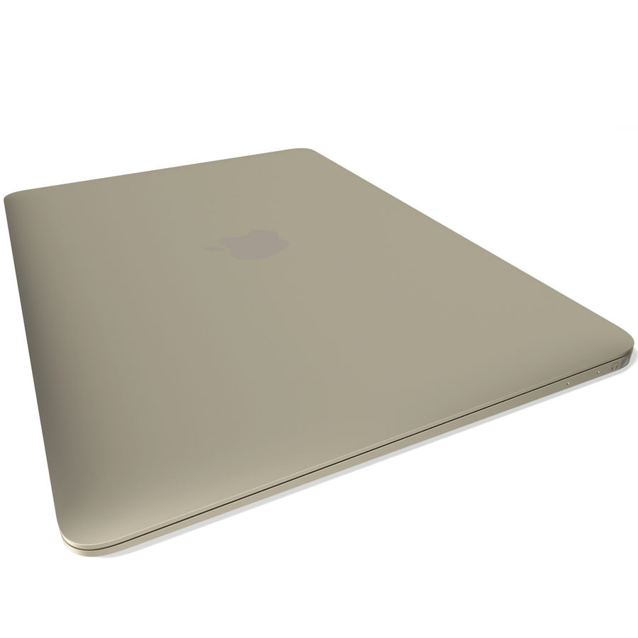 Apple MacBook 2015 goud royalty-free 3d model - Preview no. 8