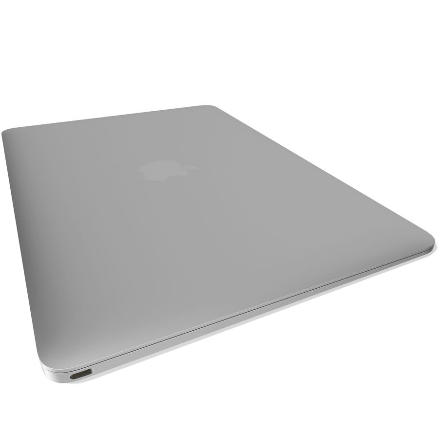Apple MacBook 2015 Silver royalty-free 3d model - Preview no. 9