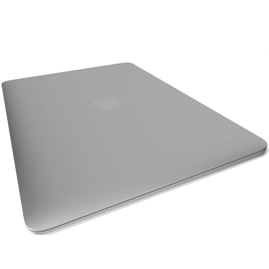 Apple MacBook 2015 Silver royalty-free 3d model - Preview no. 8