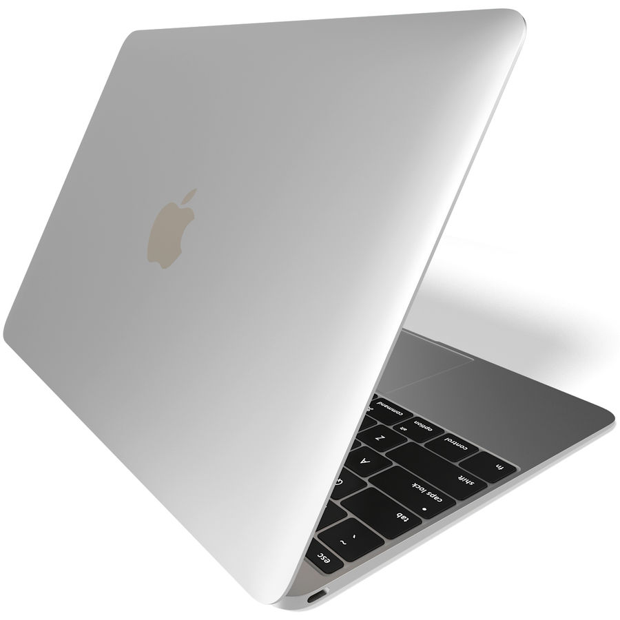 Apple MacBook 2015 Silver royalty-free 3d model - Preview no. 6