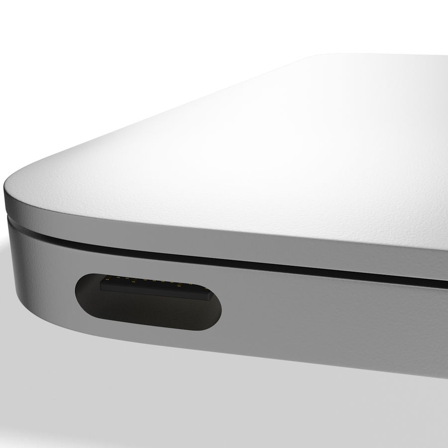 Apple MacBook 2015 Silver royalty-free 3d model - Preview no. 13