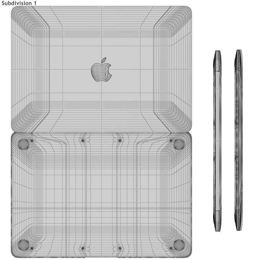 Apple MacBook 2015 grijs royalty-free 3d model - Preview no. 17