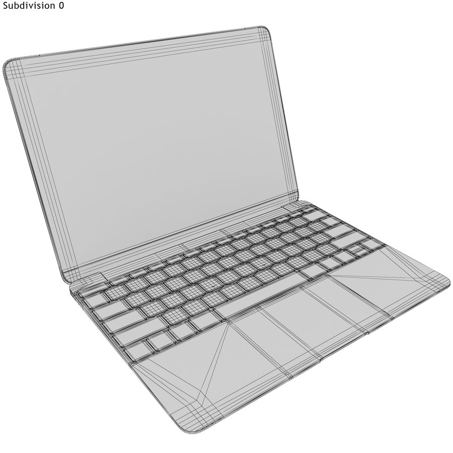 Apple MacBook 2015 grijs royalty-free 3d model - Preview no. 18
