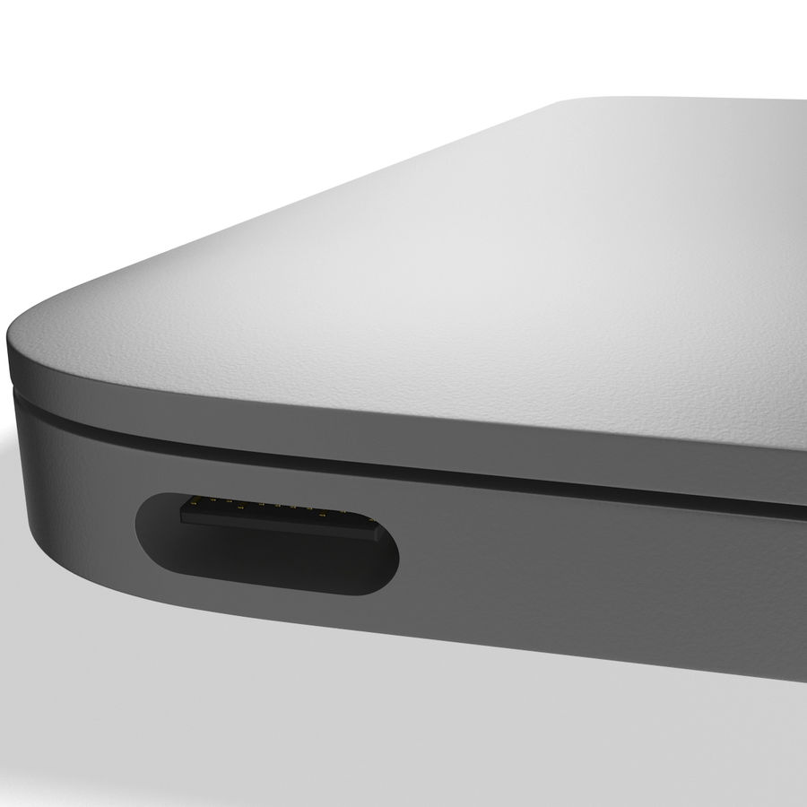 Apple MacBook 2015 grijs royalty-free 3d model - Preview no. 13