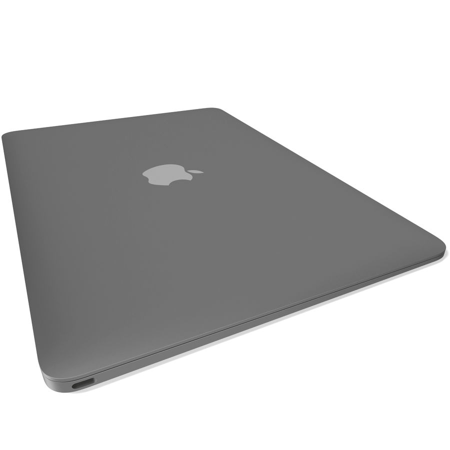 Apple MacBook 2015 grijs royalty-free 3d model - Preview no. 9