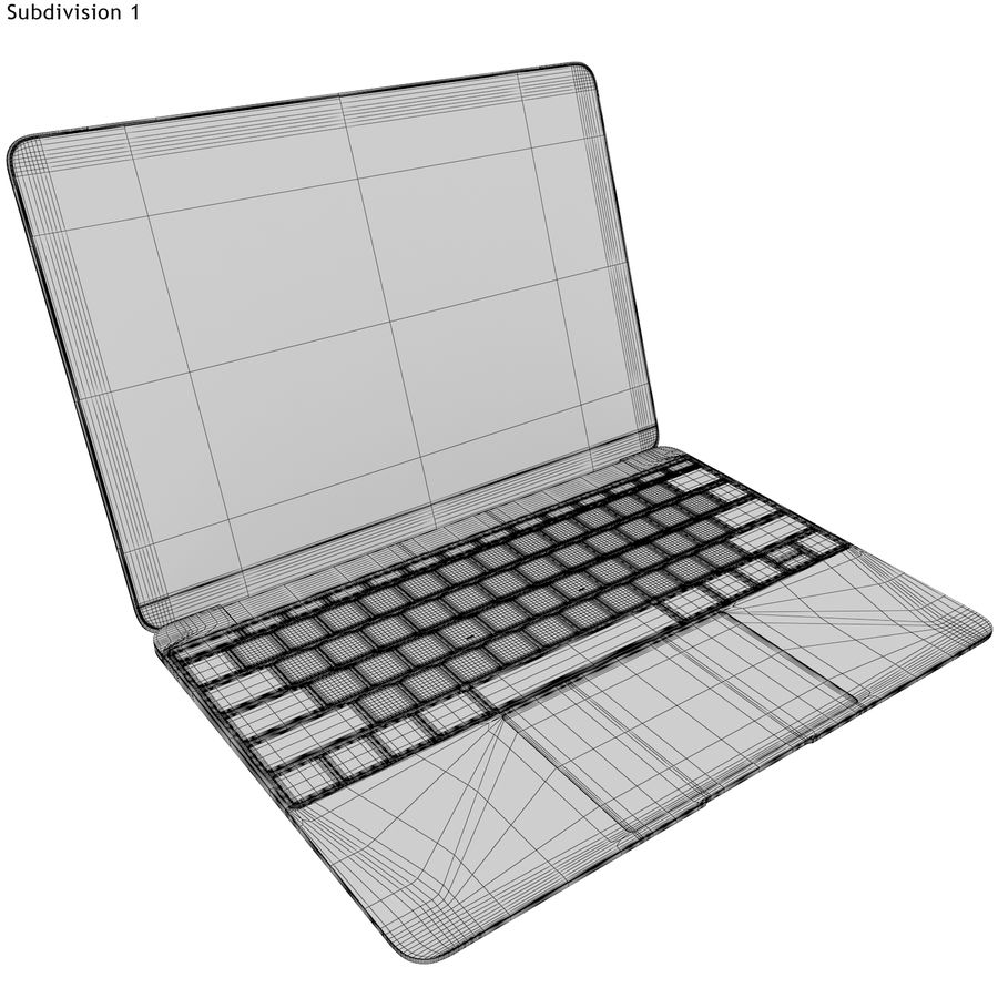 Apple MacBook 2015 grijs royalty-free 3d model - Preview no. 19