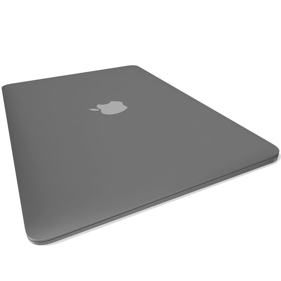 Apple MacBook 2015 grijs royalty-free 3d model - Preview no. 8