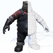 horror karakter - SPEL - MOBIELE APP 3d model