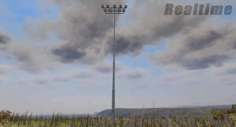 Floodlight royalty-free 3d model - Preview no. 22