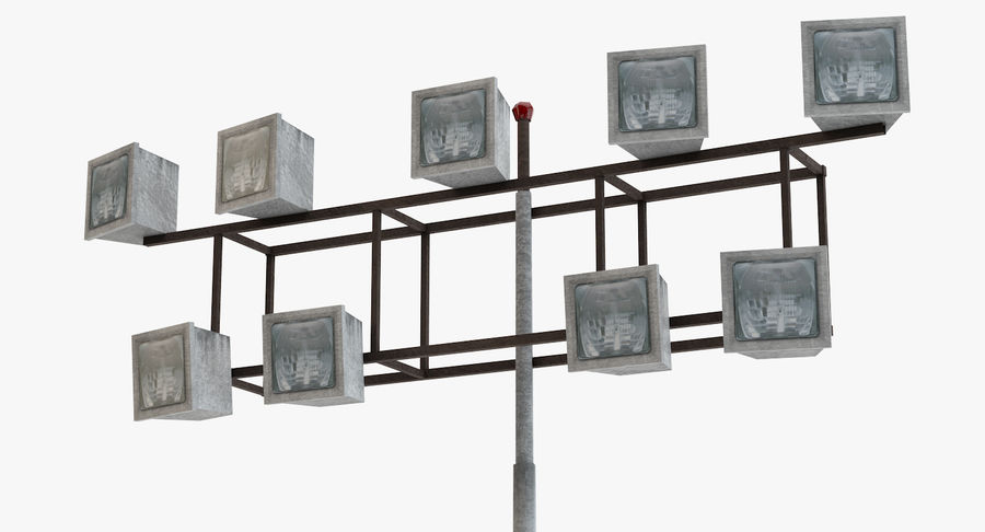 Floodlight royalty-free 3d model - Preview no. 2
