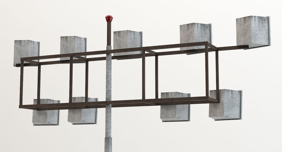 Floodlight royalty-free 3d model - Preview no. 4
