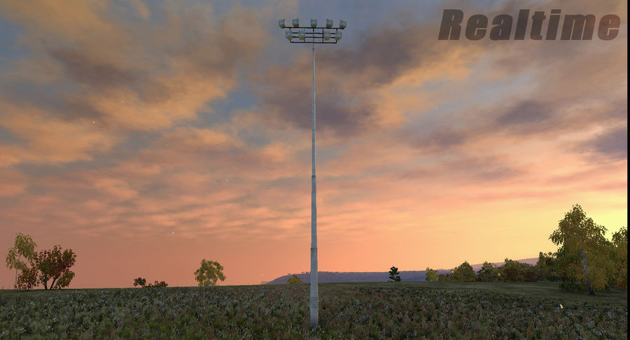 Floodlight royalty-free 3d model - Preview no. 18
