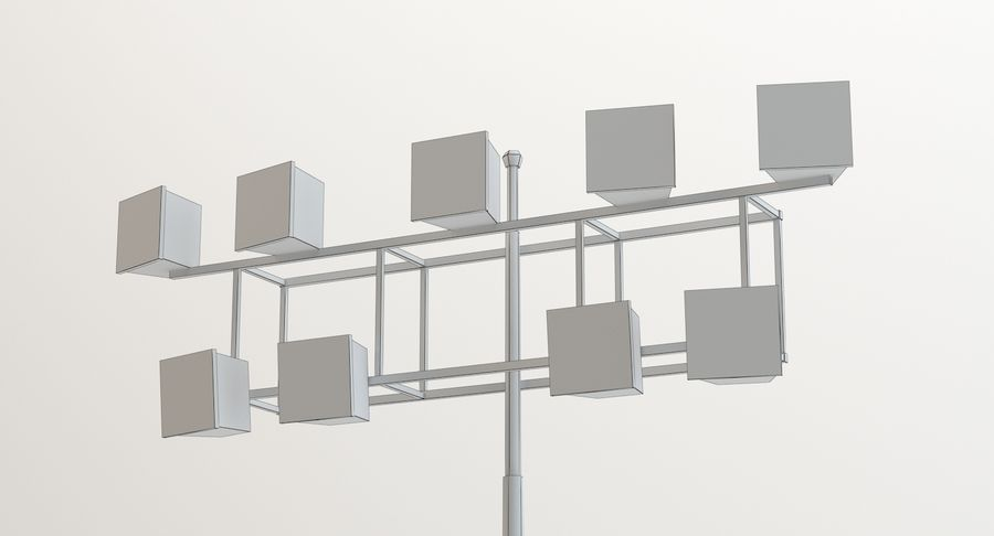 Floodlight royalty-free 3d model - Preview no. 10