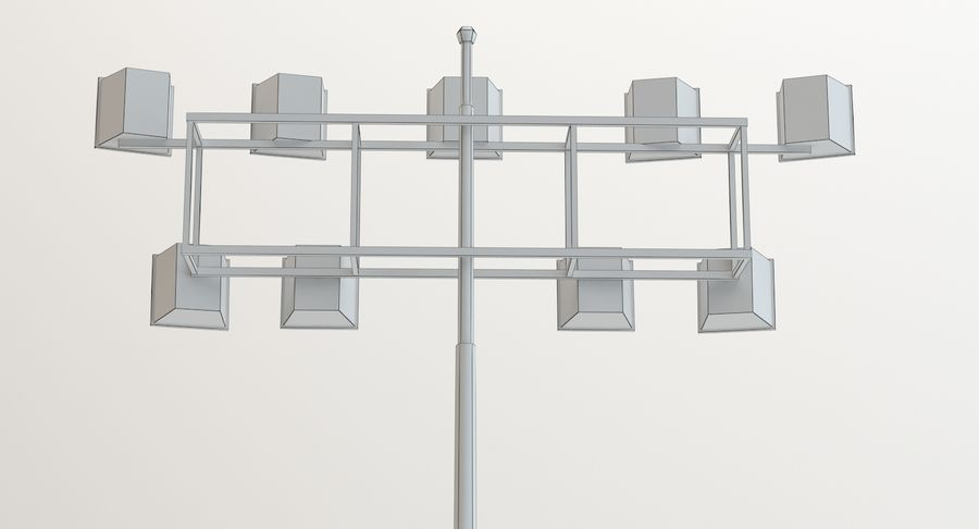 Floodlight royalty-free 3d model - Preview no. 11