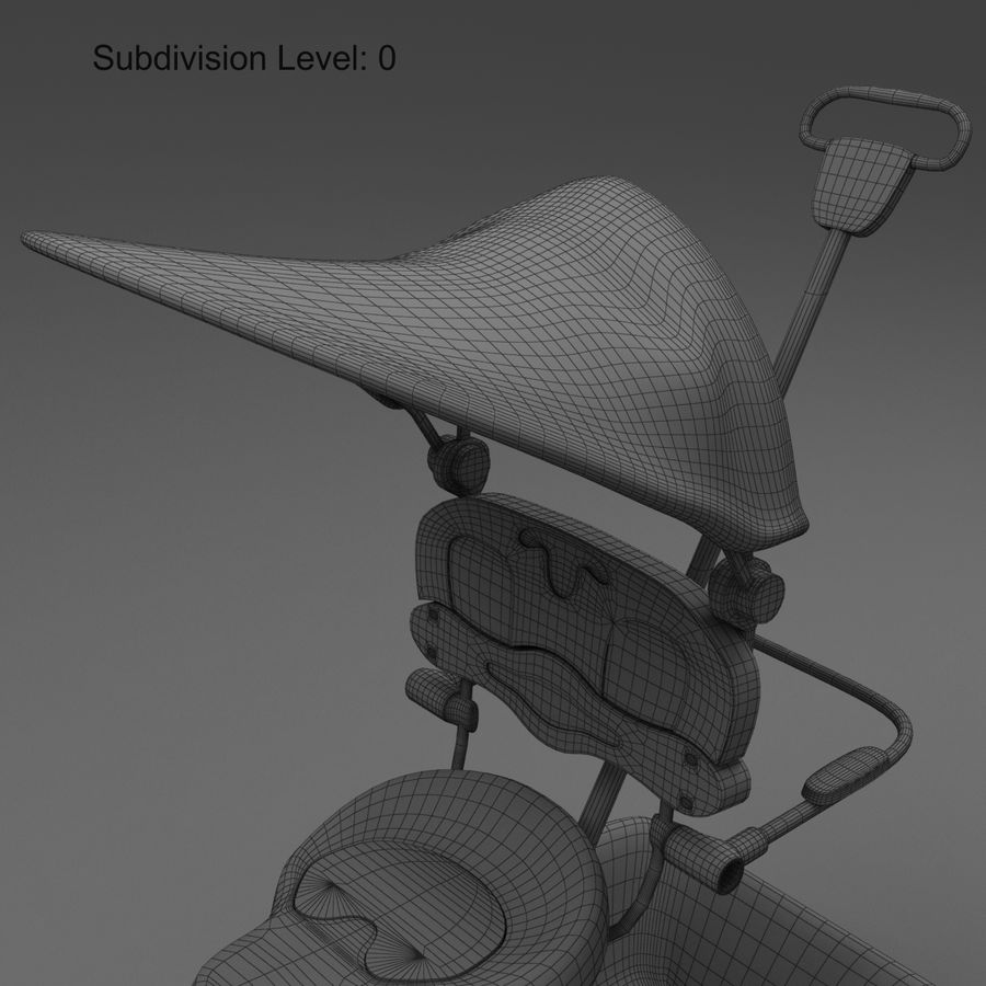 Kinderen driewieler royalty-free 3d model - Preview no. 9