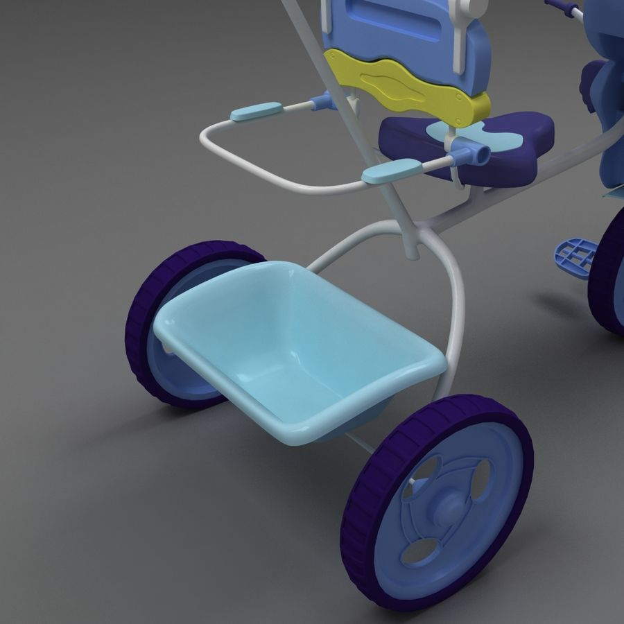 Kinderen driewieler royalty-free 3d model - Preview no. 4