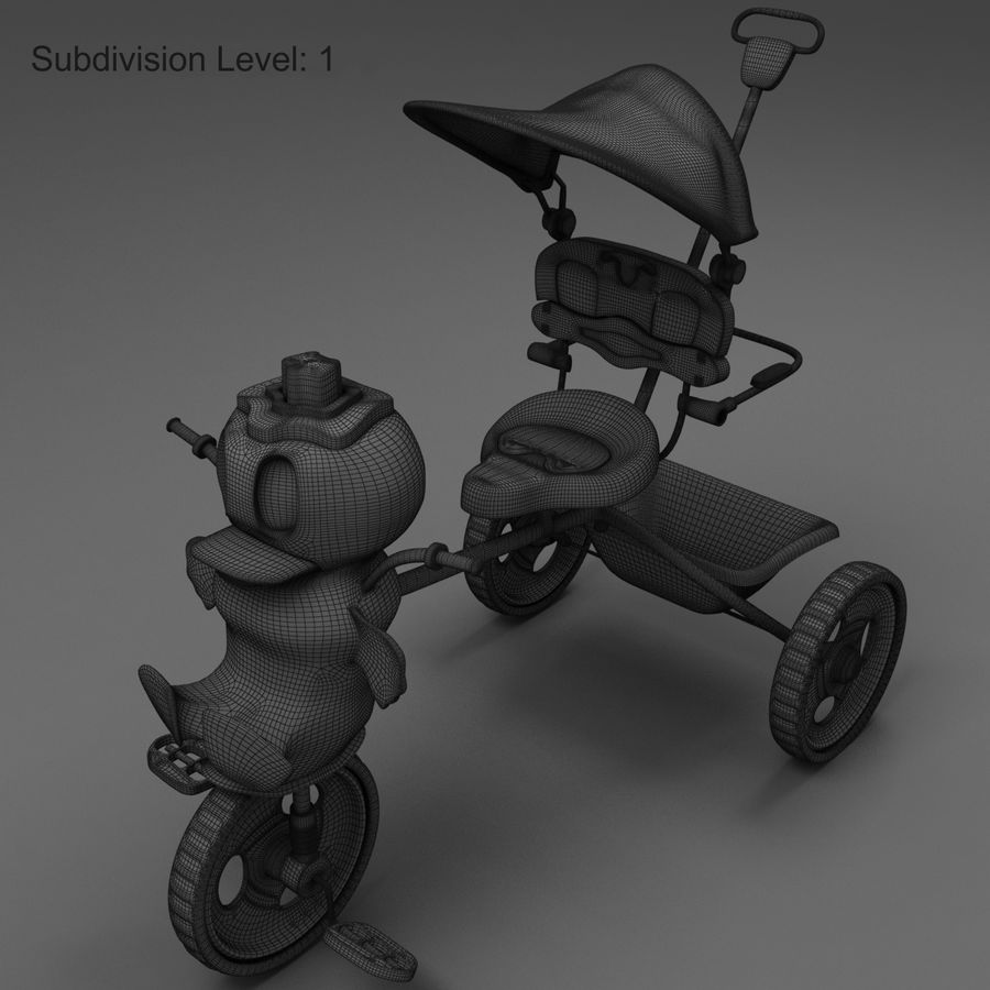 Kinderen driewieler royalty-free 3d model - Preview no. 12