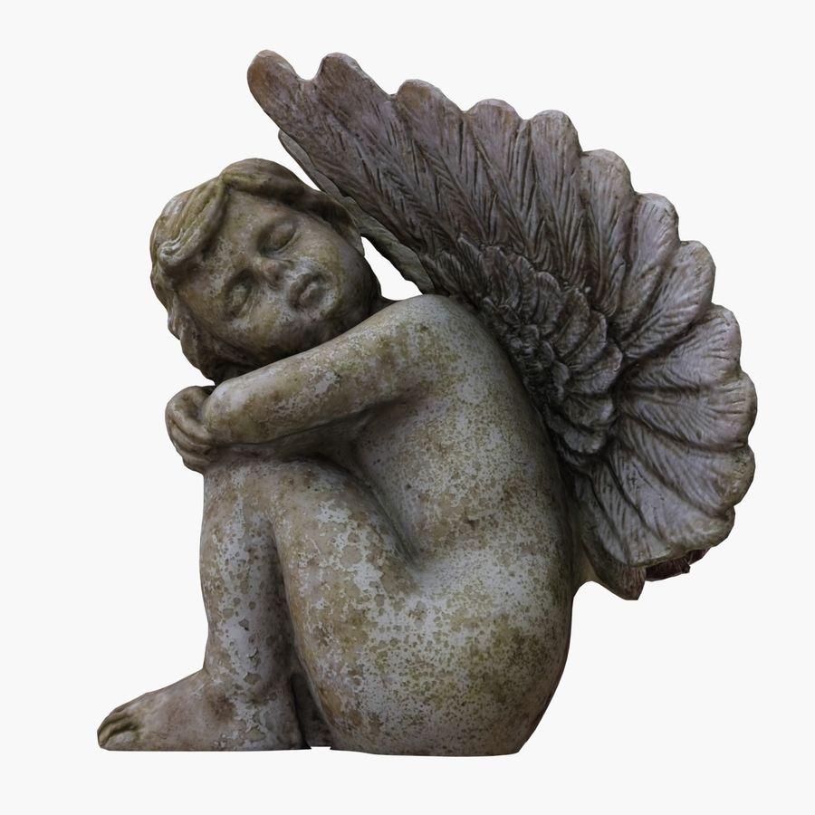 Statua anioła royalty-free 3d model - Preview no. 5