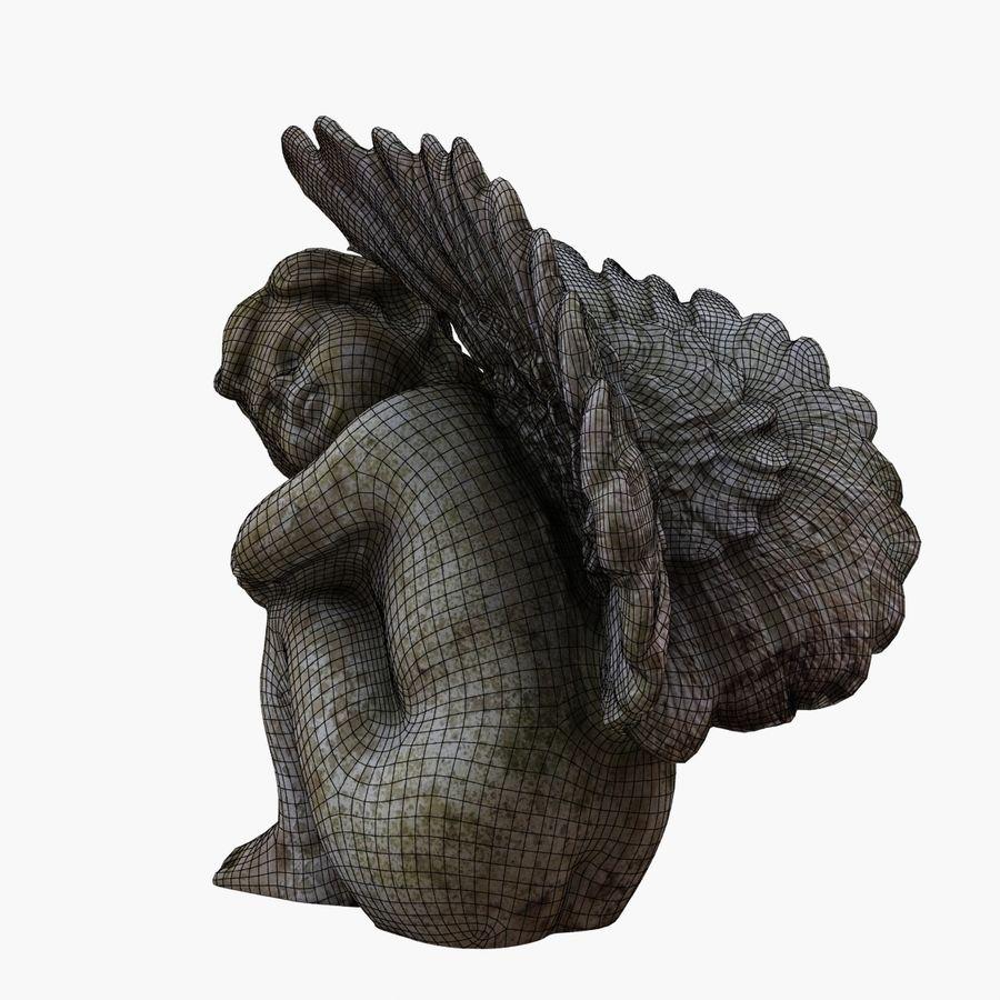 Statua anioła royalty-free 3d model - Preview no. 12