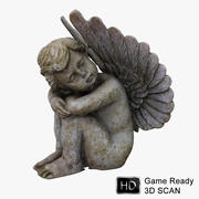 Estatua de anjo 3d model