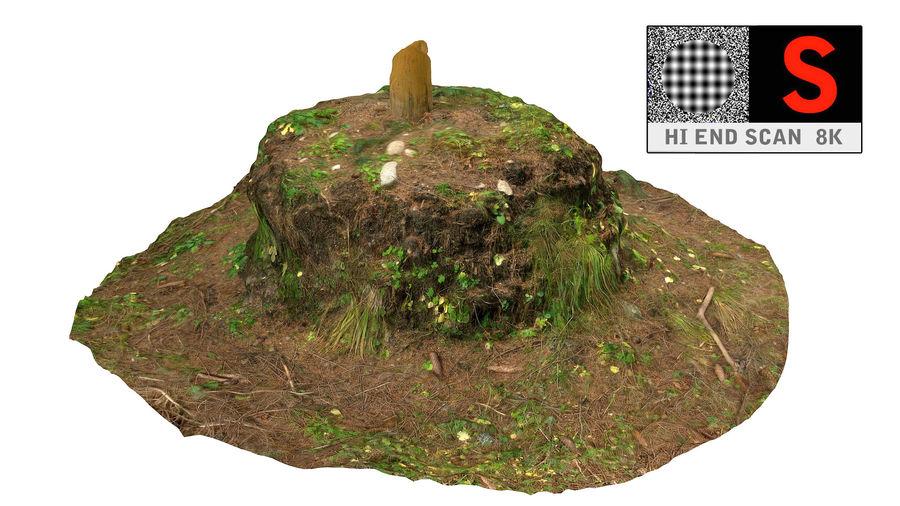 Tronco di tumulo di foresta royalty-free 3d model - Preview no. 1