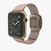 Apple Watch 42mm Soft Pink Leather 2 3D 모델 3d model