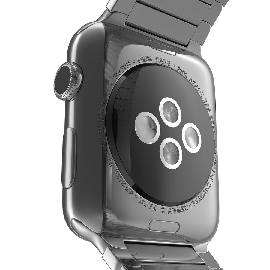 Apple Watch 42mm Link Bracelet Dark Space 2 3D 모델 royalty-free 3d model - Preview no. 16