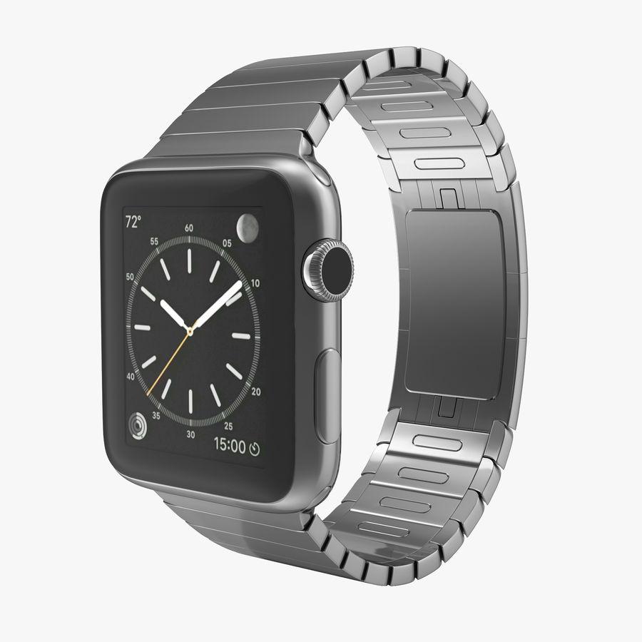 Apple Watch 42mm Link Bracelet Dark Space 2 3D 모델 royalty-free 3d model - Preview no. 1