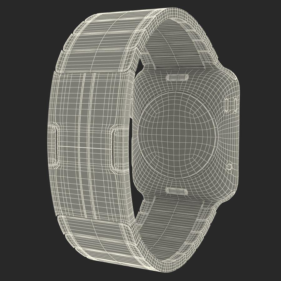 Apple Watch 42mm Link Bracelet Dark Space 2 3D 모델 royalty-free 3d model - Preview no. 30