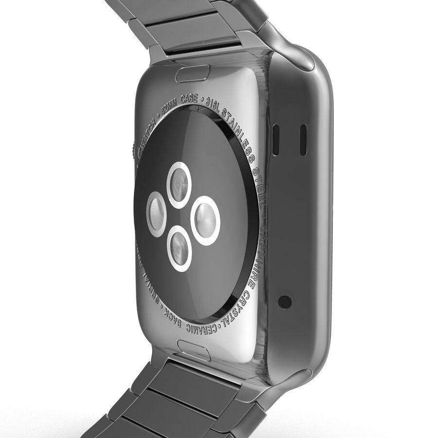 Apple Watch 42mm Link Bracelet Dark Space 2 3D 모델 royalty-free 3d model - Preview no. 17
