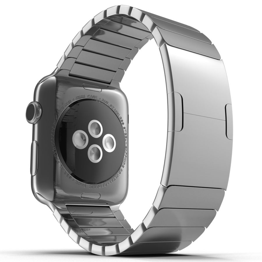 Apple Watch 42mm Link Bracelet Dark Space 2 3D 모델 royalty-free 3d model - Preview no. 9