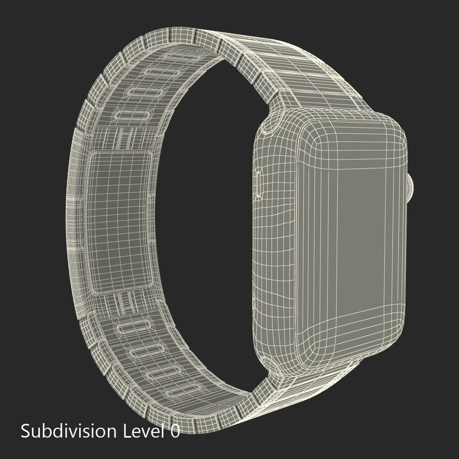 Apple Watch 42mm Link Bracelet Dark Space 2 3D 모델 royalty-free 3d model - Preview no. 20