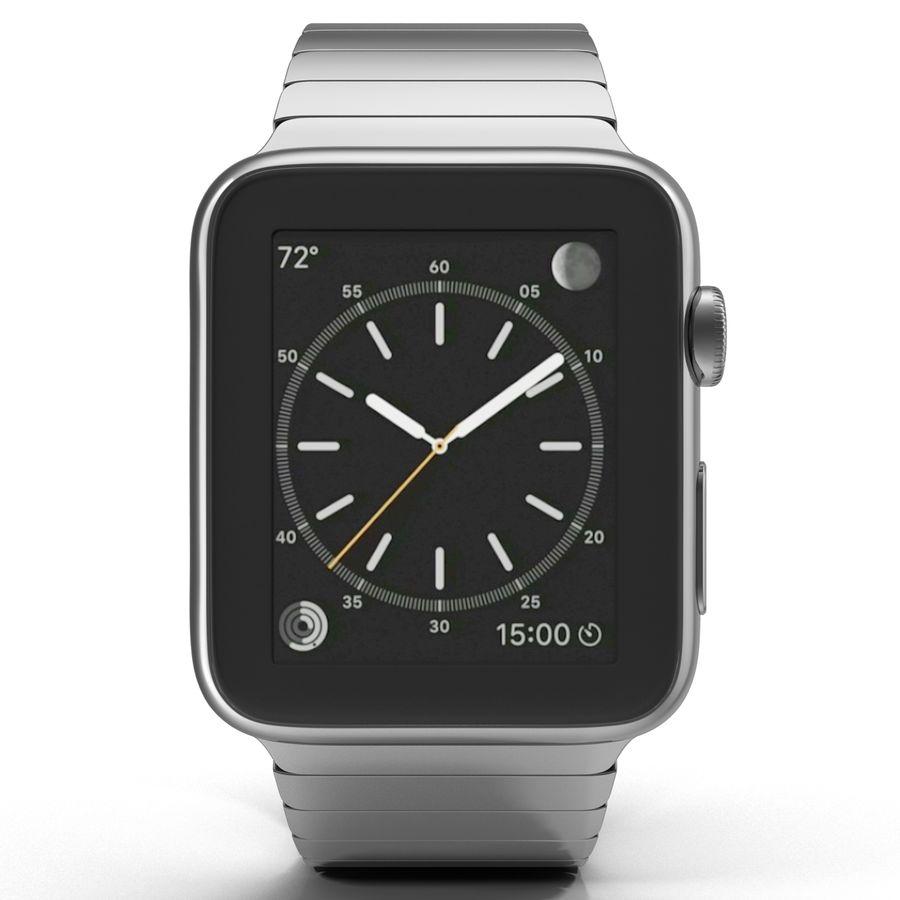 Apple Watch 42mm Link Bracelet Dark Space 2 3D 모델 royalty-free 3d model - Preview no. 3