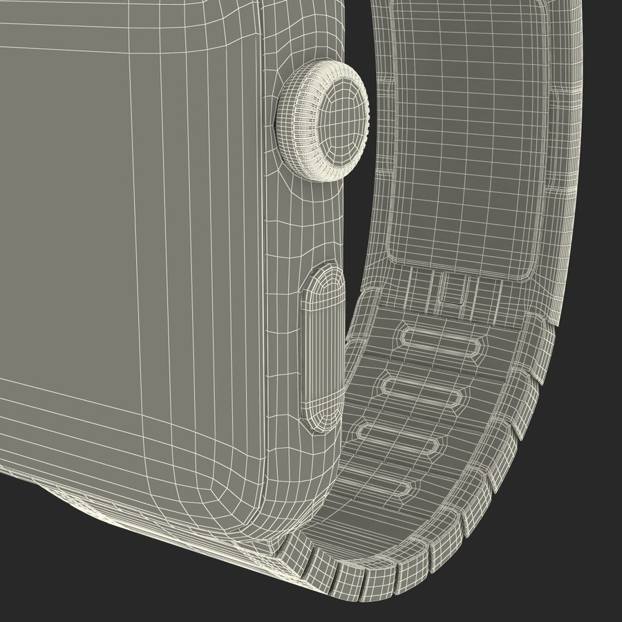 Apple Watch 42mm Link Bracelet Dark Space 2 3D 모델 royalty-free 3d model - Preview no. 32