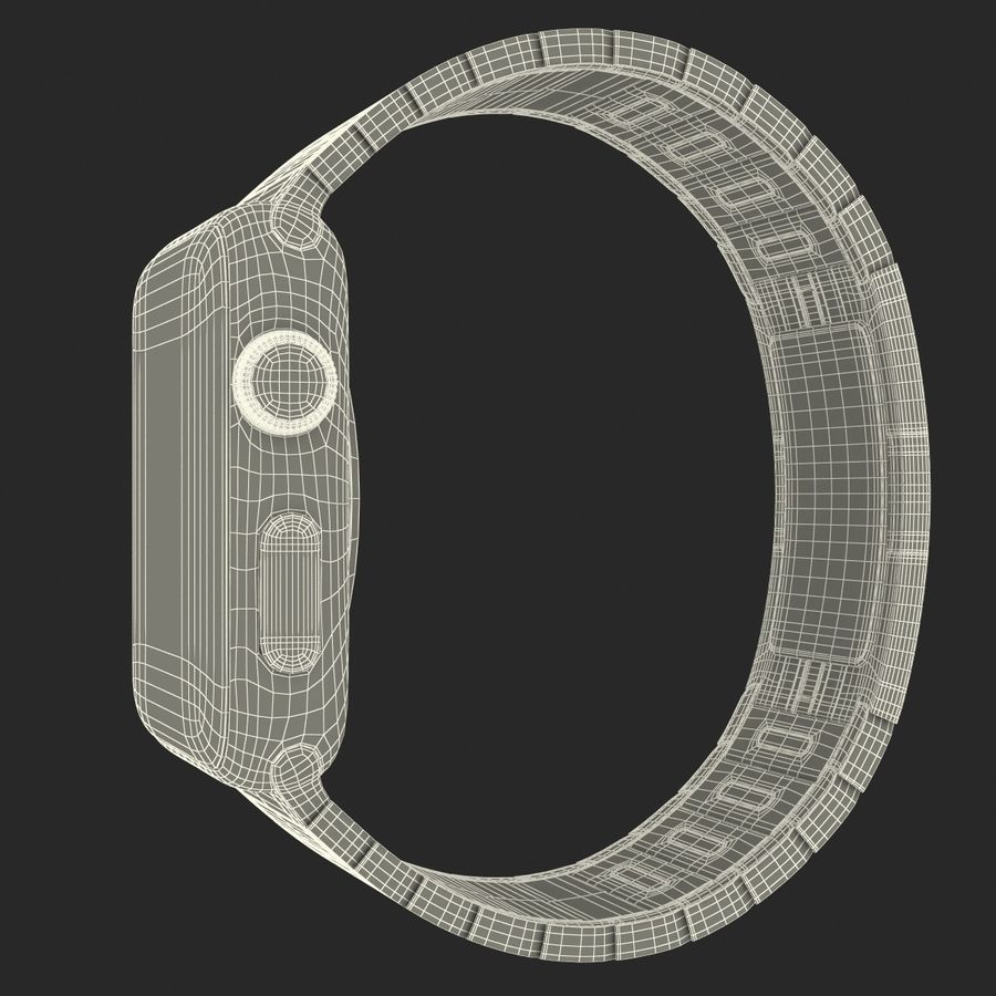 Apple Watch 42mm Link Bracelet Dark Space 2 3D 모델 royalty-free 3d model - Preview no. 28