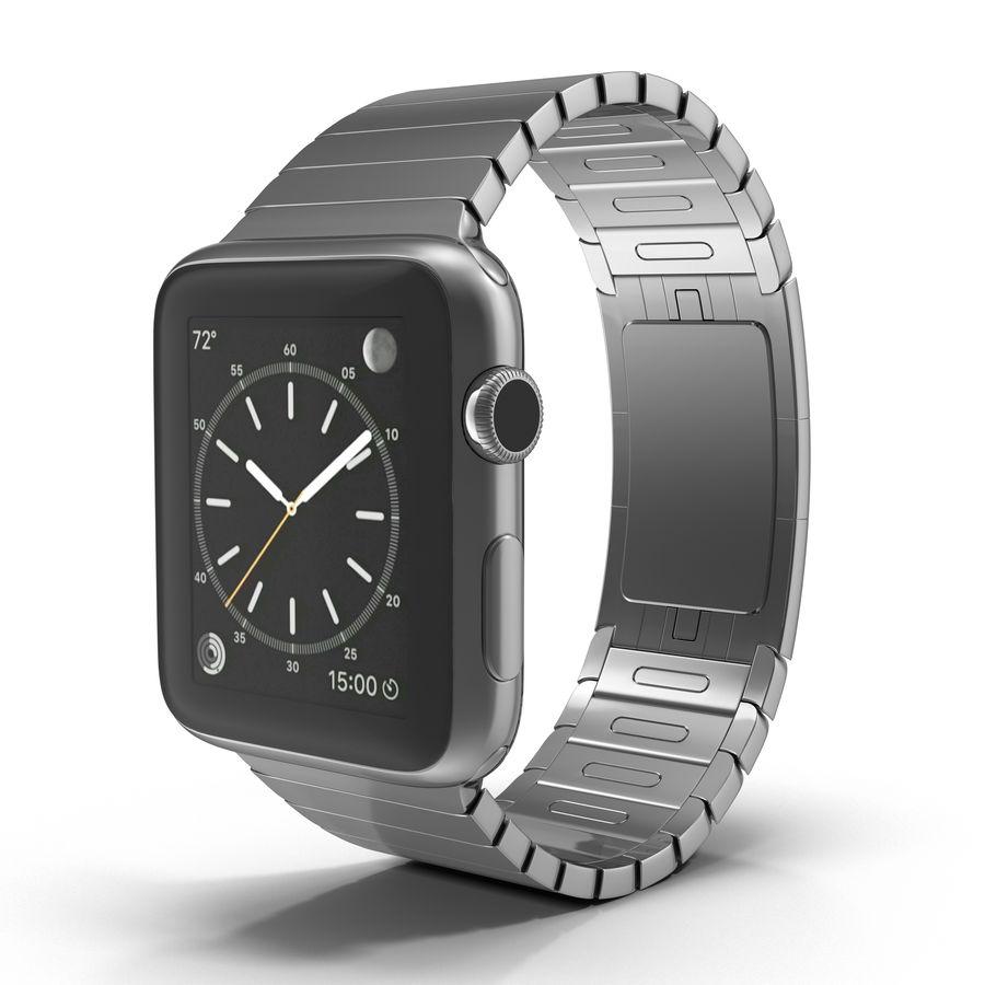 Apple Watch 42mm Link Bracelet Dark Space 2 3D 모델 royalty-free 3d model - Preview no. 2