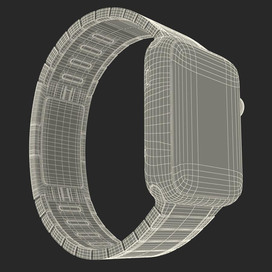 Apple Watch 42mm Link Bracelet Dark Space 2 3D 모델 royalty-free 3d model - Preview no. 31