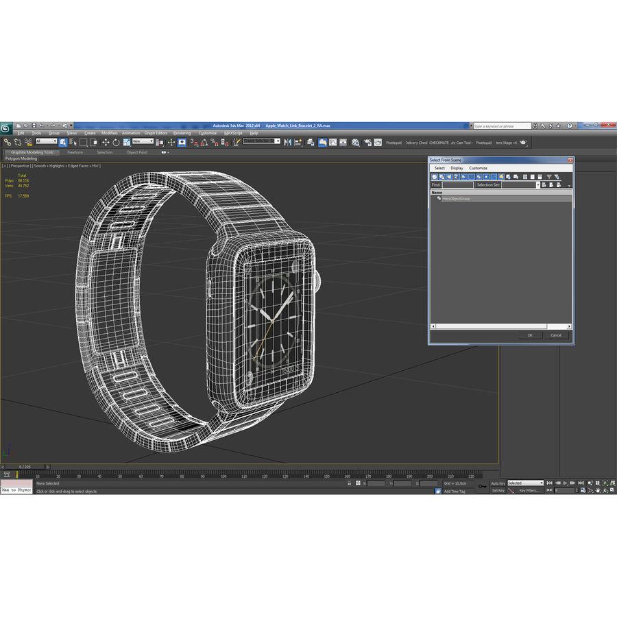 Apple Watch 42mm Link Bracelet Dark Space 2 3D 모델 royalty-free 3d model - Preview no. 27