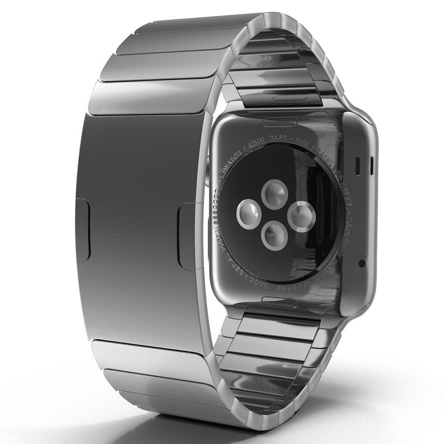 Apple Watch 42mm Link Bracelet Dark Space 2 3D 모델 royalty-free 3d model - Preview no. 6