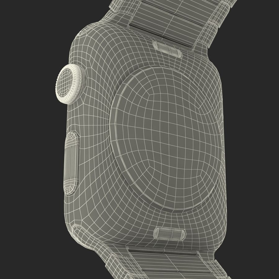 Apple Watch 42mm Link Bracelet Dark Space 2 3D 모델 royalty-free 3d model - Preview no. 33