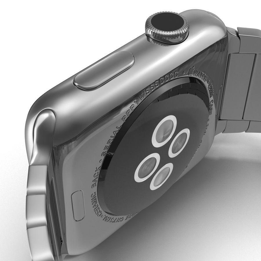 Apple Watch 42mm Link Bracelet Dark Space 2 3D 모델 royalty-free 3d model - Preview no. 19