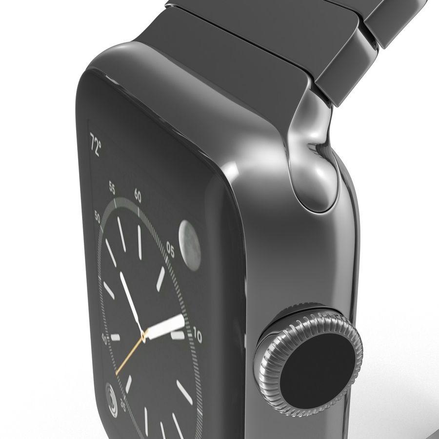 Apple Watch 42mm Link Bracelet Dark Space 2 3D 모델 royalty-free 3d model - Preview no. 18