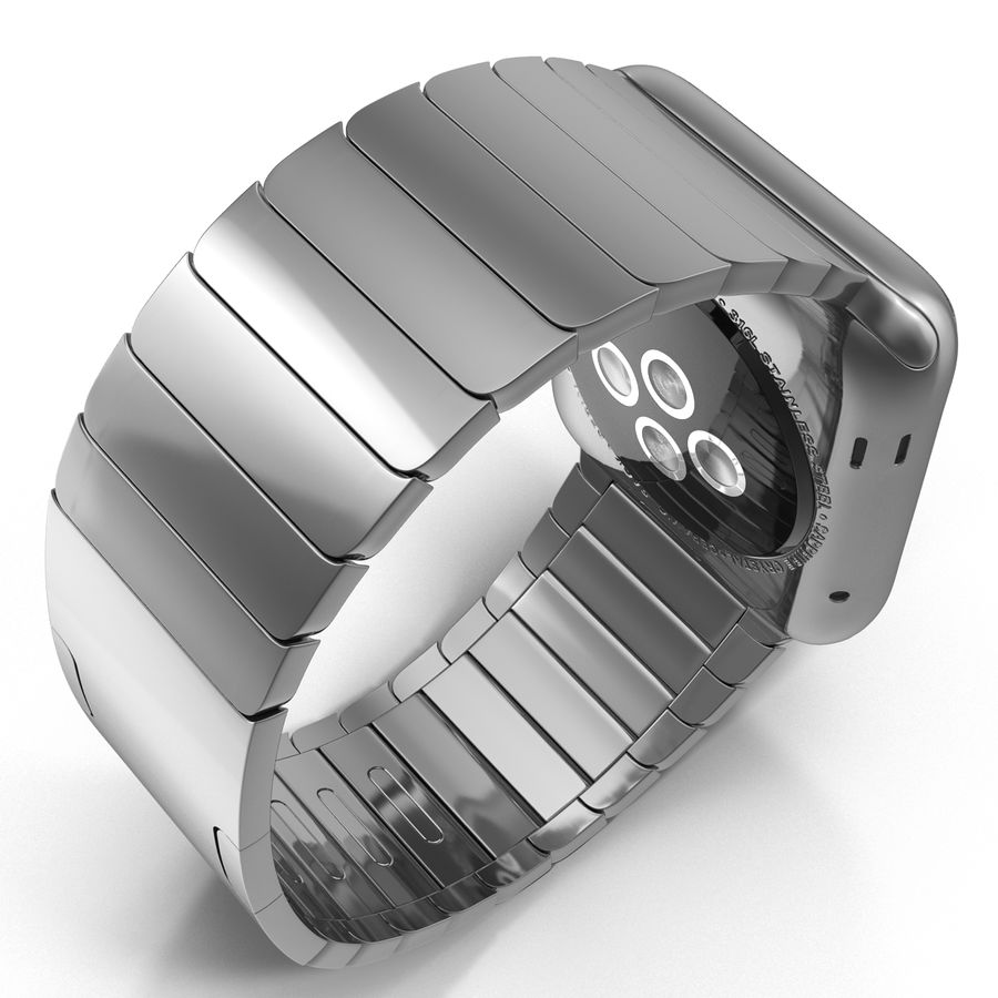 Apple Watch 42mm Link Bracelet Dark Space 2 3D 모델 royalty-free 3d model - Preview no. 10