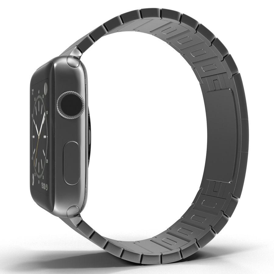 Apple Watch 42mm Link Bracelet Dark Space 2 3D 모델 royalty-free 3d model - Preview no. 4
