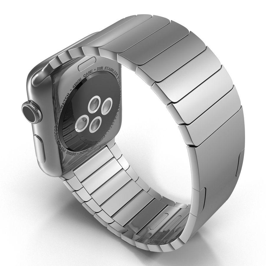 Apple Watch 42mm Link Bracelet Dark Space 2 3D 모델 royalty-free 3d model - Preview no. 5