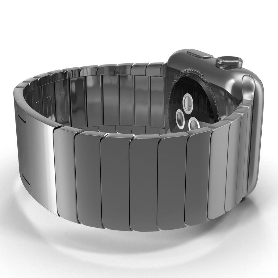 Apple Watch 42mm Link Bracelet Dark Space 2 3D 모델 royalty-free 3d model - Preview no. 13