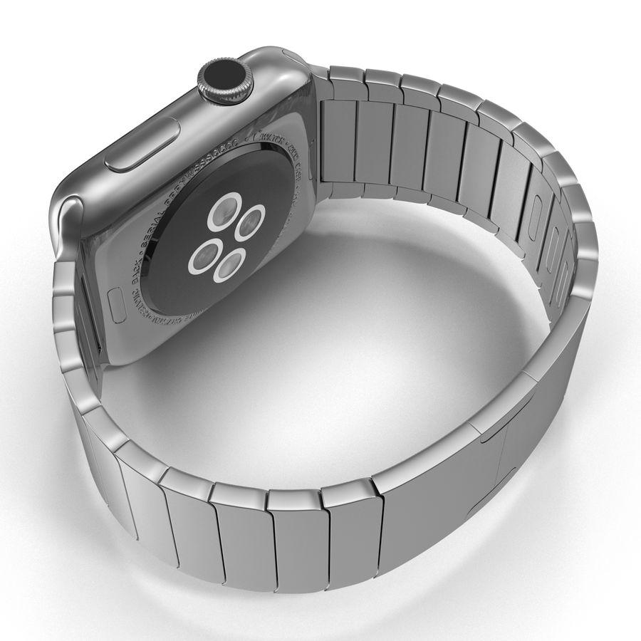 Apple Watch 42mm Link Bracelet Dark Space 2 3D 모델 royalty-free 3d model - Preview no. 12